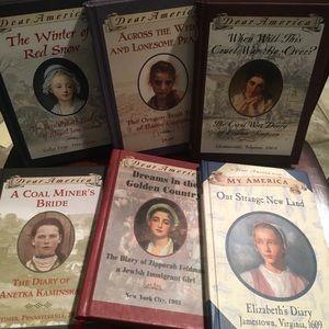 6 Dear America books EUC